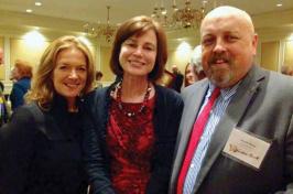 Karen Andreas '88, Jane Harrigan and David Olson '92
