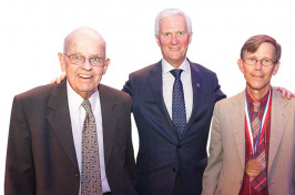 John H. Smith, President Mark Huddleston and David Finklehor