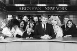 Susan Mercandetti '75, Ted Koppel and other news staff