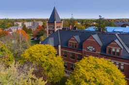 A photo of Thompson Hall at UNH