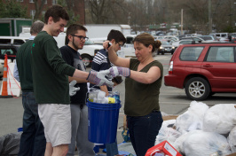 UNH Student Body President Cameron Cook '17 and the Sustainability Institute's Jennifer Andrews