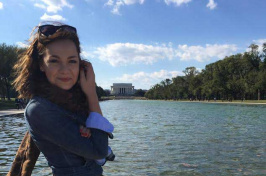 UNH student Ella O'Leary '17 in Washington, DC