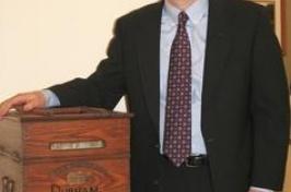 wooden ballot box