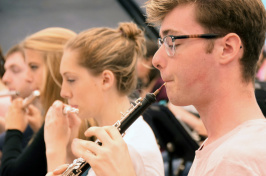 Members of the UNH Wind Symphony