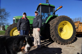 Farmers John Lader, left, and Austin Arndt are pictured on Arndt's property just outside Janeseville, Wisconsin, November 10, 2016. Like many other rural Americans they voted for Donald Trump, in their case because of specific promises the Republican made to create jobs, cut taxes and repeal Obamacare. REUTERS