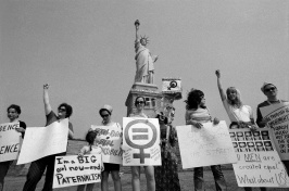 Demonstrating at the Statue of Liberty in 1970. Jack Manning/The New York Times