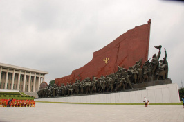 a large sculpture in North Korea (STEPHAN) VIA FLICKR/CC