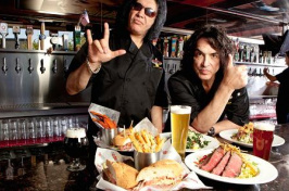 Gene Simmons and Paul Stanley, Kiss band members and co-founding partners or Rock & Brew