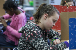 Fifth graders take a math exam with PACE testing at Maple Street Magnet Elementary School in Rochester, N.H.