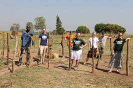 UNH students volunteering with Engineers Without Borders