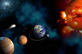 an illustration of part of the solar system