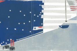 an abstract illustration of the American flag by Rosie Roberts