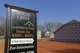 Sardis Crest Live Well Homes sign