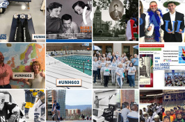 a collage of images from The #UNH603 Challenge Facebook photo contest