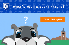 UNH Wildcat Quiz graphic - What's your Wildcat nature?