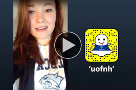 UNH student Alana Davidson takes over the UNH Snapchat account
