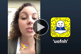 Anna Bannon '18 takes over UNH's Snapchat