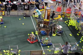 Students from throughout New England are competing at the FIRST Robotics District Competition at UNH. (KIMBERLEY HAAS/Union Leader Correspondent)