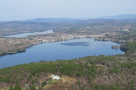 aerial view of NH lake