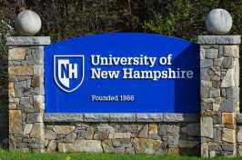 University of New Hampshire sign