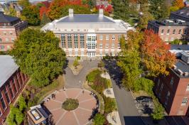 ariel shot of campus