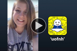 Audrey Getman '19 shares her summer studies in Greece via UNH Snapchat
