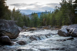 a river with Mt. Katahdin in the background (ARAM BOGHOSIAN FOR THE BOSTON GLOBE)