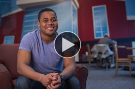 UNH student Carrington Cazeau '17