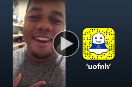 Carrington Cazeau takes over the UNH Snapchat account