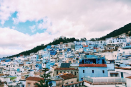 rooftops of Chefchaouen, Morocco