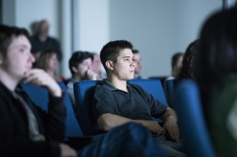 Students watching films