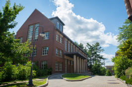 A view of UNH's Dimond Library