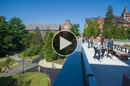 Students walking to class at the University of New Hampshire