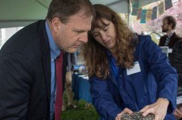 New Hampshire Gov. Chris Sununu and a UNH researcher