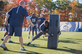 UNH professor Erik Swartz's helmetless football research