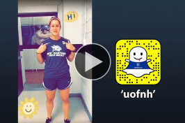 "Jessica Schmidt '18 does a ""uofnh"" Snapchat takeover"