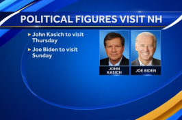 Political Figures Visit NH WMUR TV graphic - John Kasich and Joe Biden