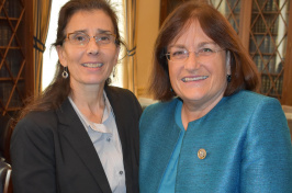 UNH's Jane Stapleton and N.H. Congresswoman Ann McLane Kuster