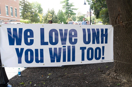 We Love UNH You Will Too sign