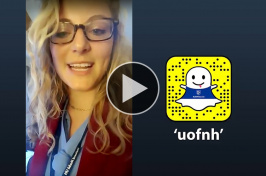 Madison Ferreri '19 takes over UNH's Snapchat