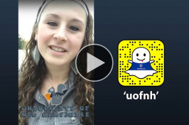 Nicki Moody takes over UNH's Snapchat account