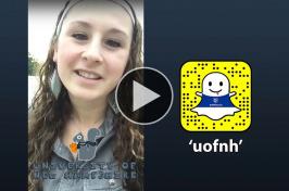 Nicki Moody takes over UNH's Snapchat account
