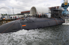 a submarine at Portsmouth Naval Shipyard