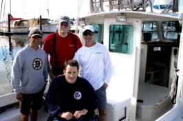 Boat captain Shawn Joyce and his mate Scott Perkins, took veterans Wayne Ross and Paul Pratt for a day of fishing (Alexander LaCasse)