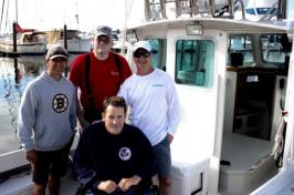 Boat captain Shawn Joyce and his mate Scott Perkins, took veterans Wayne Ross and Paul Pratt for a day of fishing (Alexander LaCasse)