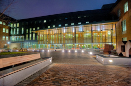UNH Paul College at night
