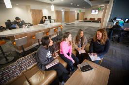 students studying at UNH