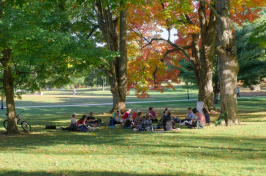 UNH class on lawn