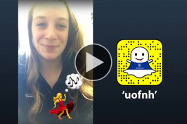 Saege Robinson '18 takes over UNH's Snapchat account