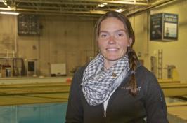 Salme Cook, an oceanography Ph.D. student